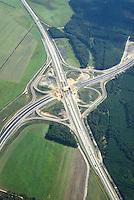A14 Neubau Autobahnkreuz Schwerin: EUROPA, DEUTSCHLAND, MECKLENBURG- VORPOMMERN,  (EUROPE, GERMANY), 27.08.2014: A14 Neubau Autobahnkreuz Schwerin