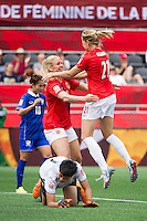 OTTAWA, Canada - Sunday June 7, 2015: Norway defeats Thailand 4-0 in the opening match of Group B at the Women's World Cup Canada 2015 at Lansdowne Stadium in Ottawa, Ontario, Canada.