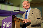 Mayor of London Ken Livingstone speaks at the London Citizens Mayoral Accountability Assembly in Central Hall, Westminster.