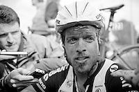 Bert De Backer's (BEL/Giant-Shimano) post-race face<br /> <br /> Paris-Roubaix 2014