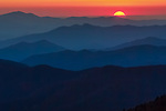 Sunset over the Smoky Mountains, North Carolina