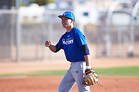 William Thompson (52), from Haiku, Hawaii, while playing for the Dodgers during the Under Armour Baseball Factory Recruiting Classic at Gene Autry Park on December 30, 2017 in Mesa, Arizona. (Zachary Lucy/Four Seam Images)
