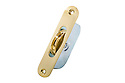 "Brass Ball Bearing Sash Pulleys 1 3/4"" : Polished Brass Radius Ends"