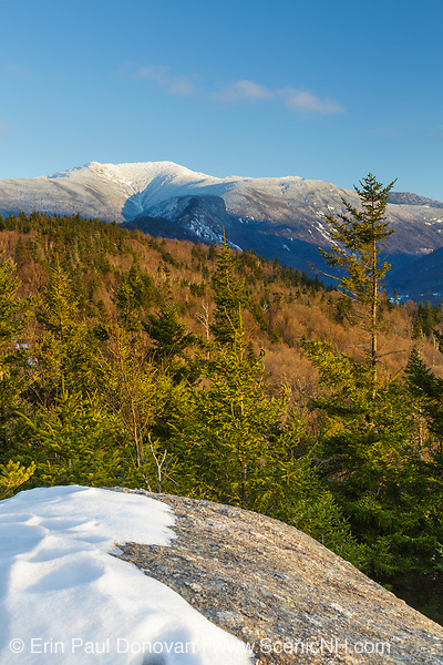 Mount Lafayette from Bald Mountain in the White Mountains, New Hampshire. Mount Lafayette is the highest summit on Franconia Ridge, and it was referred to as the Great Haystack by earlier settlers.