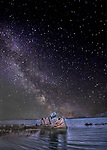 Point Reyes Shipwreck with the Milky Way stars seen at Inverness, California.