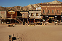 Spain - The main square of Oasys Mini Hollywood, a Western movie set.