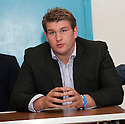 Current English Heavyweight title holder, John McDermott at the press conference to announce  him as Gary Cornish's next opponent.