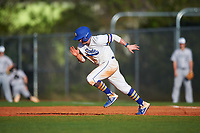 South Dakota State Jackrabbits second baseman Braeden Brown (32) running the bases during a game against the Northeastern Huskies on February 23, 2019 at North Charlotte Regional Park in Port Charlotte, Florida.  Northeastern defeated South Dakota State 12-9.  (Mike Janes/Four Seam Images)