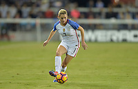 San Jose, CA - November 10, 2016: The U.S. Women's National team go up 3-0 over Romania in first half play in an international friendly game at Avaya Stadium.