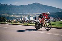Georg Preidler (AUT/Sunweb)<br /> <br /> MEN ELITE INDIVIDUAL TIME TRIAL<br /> Hall-Wattens to Innsbruck: 52.5 km<br /> <br /> UCI 2018 Road World Championships<br /> Innsbruck - Tirol / Austria