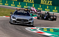 6th September 2020; Autodromo Nazionale Monza, Monza, Italy ; Formula 1 Grand Prix of Italy, Race Day;  F1 Safety Car, Mercedes-AMG GT R ahead of Lewis Hamilton who gets a stop and go penalty for entering the closed pits