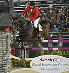 9 October 2010: Gold medalist Philippe Le Jeune during the Rolex Top Four Jumping Finals in the World Equestrian Games in Lexington, Kentucky