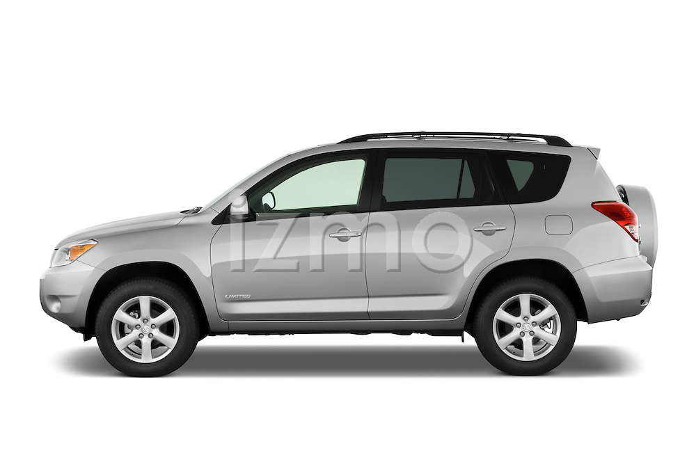 Driver side profile view of a 2008 Toyota Rav4 Limited SUV Stock Photo