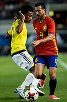 Pedro Rodriguez of Spain competes for the ball with Carlos Bacca of Colombia during the friendly match between Spain and Colombia at Nueva Condomina Stadium in Murcia, jun 07, 2017. Spain. (ALTERPHOTOS/Rodrigo Jimenez) (NortePhoto.com) (NortePhoto.com)