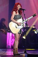 France D'Amour performs during the Telethon Enfant Soleil in Quebec City Sunday June 3, 2012.