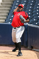 June 12th 2008:  Pitcher Franklyn German of the Indianapolis Indians, Class-AAA affiliate of the Pittsburgh Pirates, during a game at Fifth Third Field in Toledo, OH.  Photo by:  Mike Janes/Four Seam Images