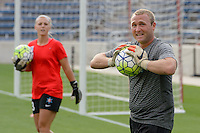 Chicago, IL - Saturday July 30, 2016: Jordi King prior to a regular season National Women's Soccer League (NWSL) match between the Chicago Red Stars and FC Kansas City at Toyota Park.
