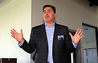 Pictured: Jason Levien Tuesday 04 April 2017<br /> Re: Official opening of the Fairwood Training Complex of Swansea City FC, Wales, UK