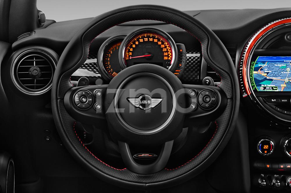 Car pictures of steering wheel view of a 2017 Mini Cooper John Cooper Works 2 Door Convertible