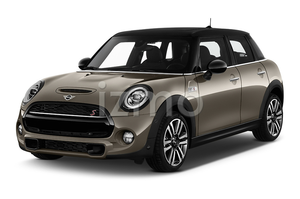 2018 Mini MINI Cooper S Chilli 5 Door Hatchback angular front stock photos of front three quarter view