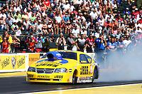 Aug. 4, 2013; Kent, WA, USA: NHRA pro stock driver Jeg Coughlin Jr during the Northwest Nationals at Pacific Raceways. Mandatory Credit: Mark J. Rebilas-USA TODAY Sports