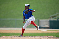 Pitcher Frankelvin Vidal (16) during the Dominican Prospect League Elite Underclass International Series, powered by Baseball Factory, on August 31, 2017 at Silver Cross Field in Joliet, Illinois.  (Mike Janes/Four Seam Images)