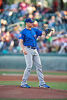 Iowa Cubs  starting pitcher Seth Frankoff (20) during the game against the Salt Lake Bees  in Pacific Coast League action at Smith's Ballpark on May 13, 2017 in Salt Lake City, Utah. Salt Lake defeated Iowa  5-4. (Stephen Smith/Four Seam Images)