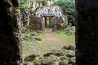 Kaniakapupu Ruins (or the King Kamehameha III Summer Palace), Nu'uanu Valley, O'ahu.