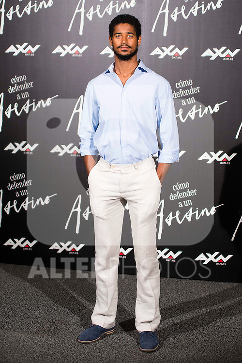"""British actor Alfred Enoch during the presentation of the serie """"Como Defender a Un Asesino"""" in Madrid. June 21, 2016. (ALTERPHOTOS/BorjaB.Hojas)"""