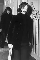 Beatle Ringo Starr leaving Apple Records' office, January 16, 1969.