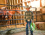 Young cowboy at horse auction in Maple Creek.