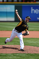 Pittsburgh Pirates pitcher Blake Wood (55) during the Black & Gold intrasquad game on March 2, 2015 at McKechnie Field in Bradenton, Florida.  (Mike Janes/Four Seam Images)
