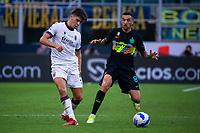 Milan, Italy - september 18 2021 - hickey aaron bologna and vecino matias f.c inter  Serie A match Inter- Bologna San Siro stadium