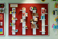 Display of interesting products in Design Technology dept.  State secondary school.