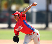 April 1, 2010:  Pitcher Matt Way of the Philadelphia Phillies organization during Spring Training at the Carpenter Complex in Clearwater, FL.  Photo By Mike Janes/Four Seam Images