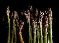 Asparagus stalks.
