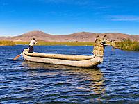 Reed Boat, Islas Flotantes de los Uros, Lago Titicaca, Peru