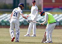 Ollie Robinson of Kent changes his bat during Kent CCC vs Lancashire CCC, LV Insurance County Championship Group 3 Cricket at The Spitfire Ground on 24th April 2021