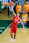 Lo Yi Ting #5 of SCAA Men's Basketball Team goes to the basket against the Fukien during the Hong Kong Basketball League game between SCAA and Fukien at Southorn Stadium on June 01, 2018 in Hong Kong. Photo by Yu Chun Christopher Wong / Power Sport Images