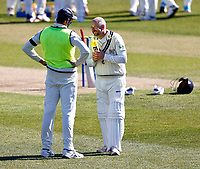 Kent's Darren Stevens in good spirits during Kent CCC vs Yorkshire CCC, LV Insurance County Championship Group 3 Cricket at The Spitfire Ground on 16th April 2021