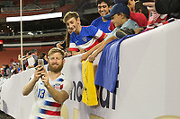 CLEVELAND, OHIO - JUNE 22: Tim Ream during a 2019 CONCACAF Gold Cup group D match between the United States and Trinidad & Tobago at FirstEnergy Stadium on June 22, 2019 in Cleveland, Ohio.