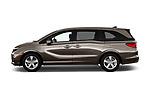 Car driver side profile view of a 2018 Honda Odyssey EX-L 5 Door Mini Van