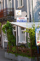 A hotel and restaurant called Pelican. Near Dupilo, Golubovic Montenegro, Balkan, Europe.
