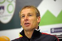Jurgen Klinsmann, coach of team USA,  after the friendly match Slovenia against USA at the Stozice Stadium in Ljubljana, Slovenia on November 15th, 2011.
