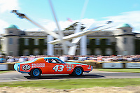 Bobbie Labonte driving Richard Petty's 1972 7 litre V8 Dodge Charger at Goodwood Festival of Speed 2016 at Goodwood, Chichester, England on 24 June 2016. Photo by David Horn / PRiME Media Images