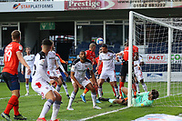4th May 2021; Kenilworth Road, Luton, Bedfordshire, England; English Football League Championship Football, Luton Town versus Rotherham United; Jamal Blackman of Rotherham United makes a save low down on his goal line