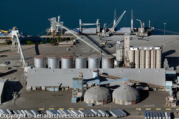 aerial photograph of the Port of Sacramento, West Sacramento, California