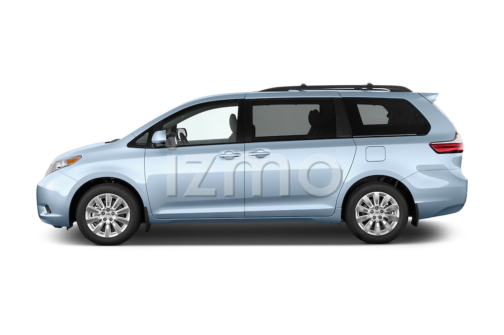 Car Driver side profile view of a 2017 Toyota Sienna XLE 5 Door Minivan Side View