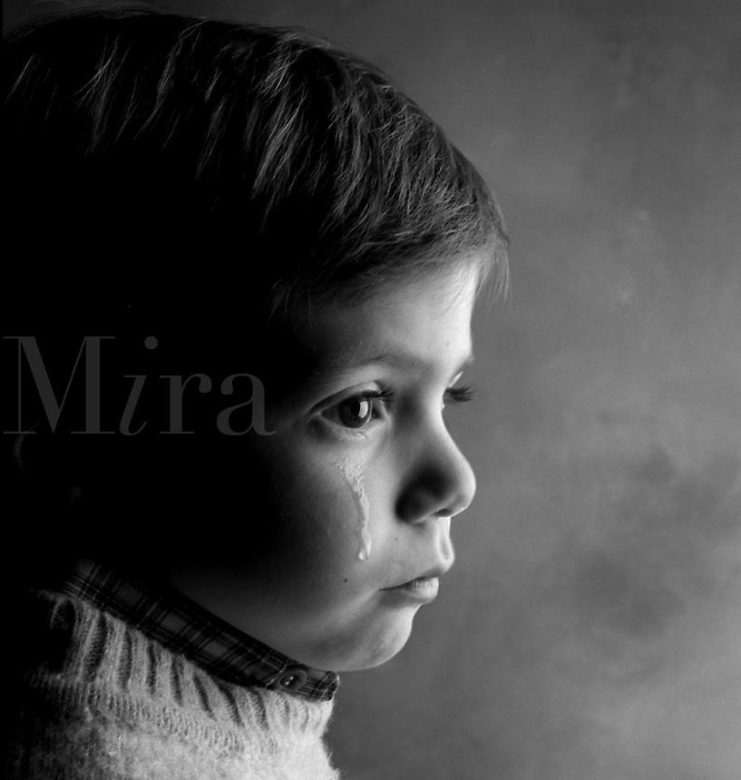 Crying boy.