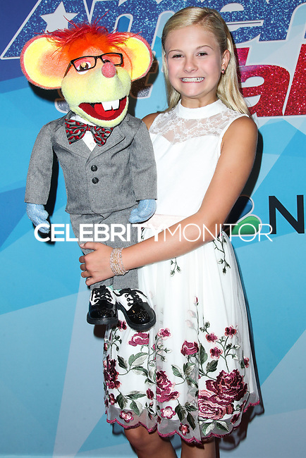 HOLLYWOOD, LOS ANGELES, CA, USA - AUGUST 15: Darci Lynne arrives at NBC's 'America's Got Talent' Season 12 Live Show held at Dolby Theatre on August 15, 2017 in Hollywood, Los Angeles, California, United States. (Photo by Xavier Collin/Celebrity Monitor)